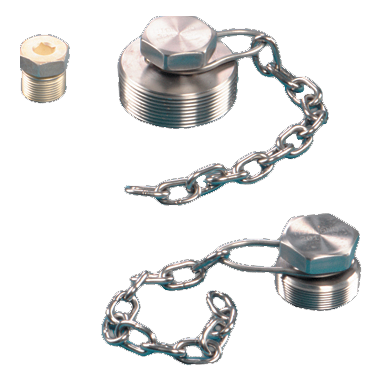 Pipe Plugs and Chain Assemblies