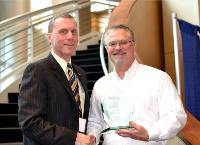 Frank Reiner Presents Award to Midland's Steve Herbst
