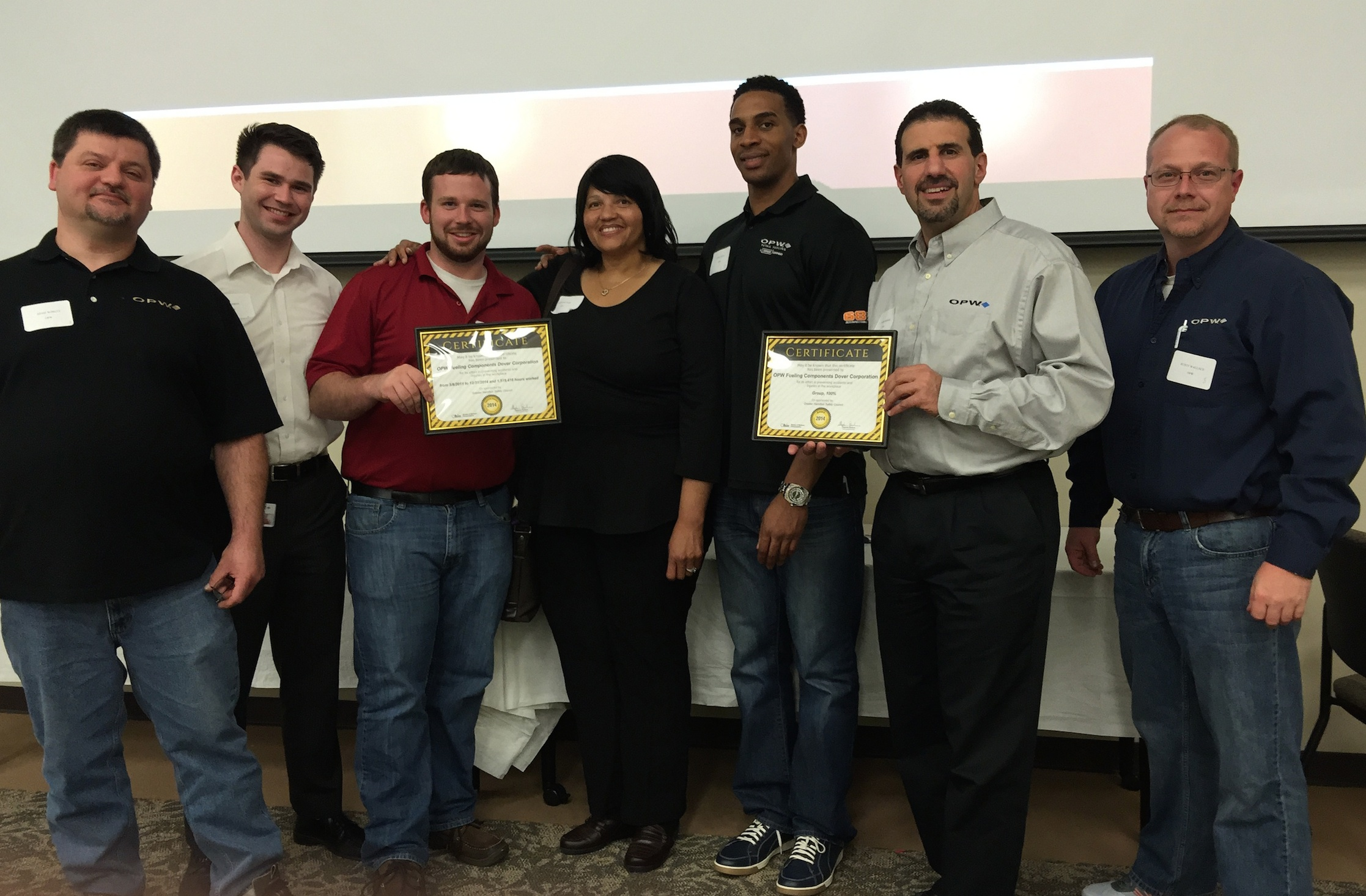 OPW Employees Receive Award
