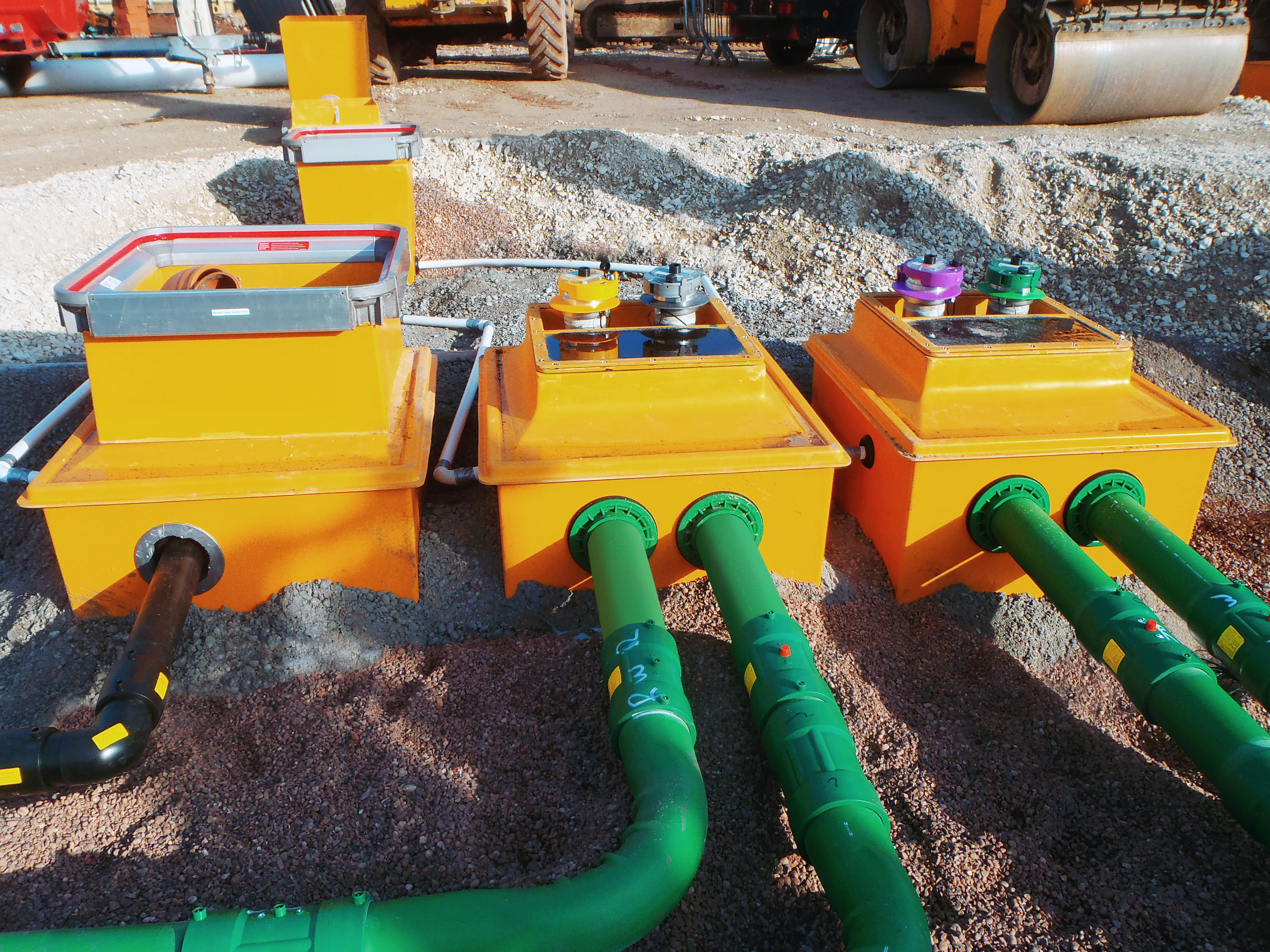 Fibrelite's below ground remote fill systems with factory fitted/tested dual contained and conductive KPS pipework