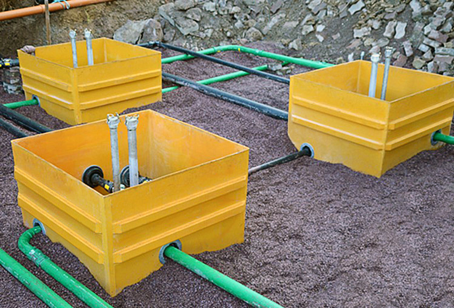 Fibrelite Tank Sumps with KPS Double Wall Piping