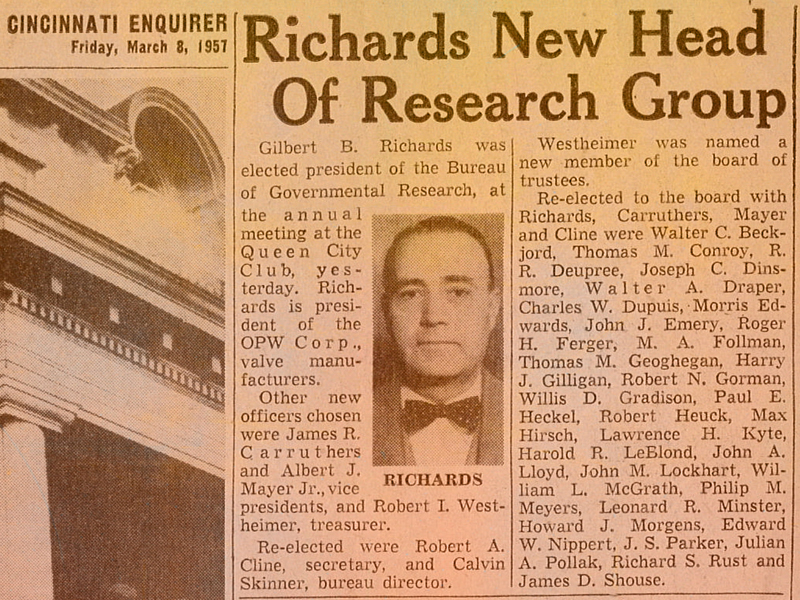 1957-President Heads Research Group