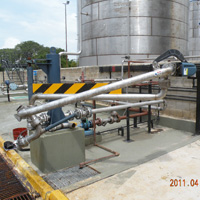 Unsupported Boom Bottom Loader Installed on a Tank