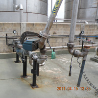 """A"" Frame Loader  Arm Connected to Pipelines"