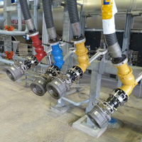 Color Coded Counterweighted Hose Loader