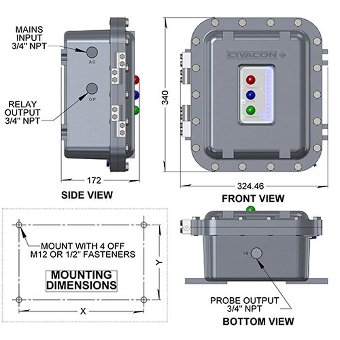 rm140w overfill protection rack monitor rh opwglobal com Johnson Outboard Wiring Diagram Turn Signal Wiring Diagram